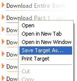 Right Click and choose (Save Target As...)